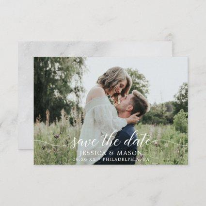 Save The Dates with Photo Card