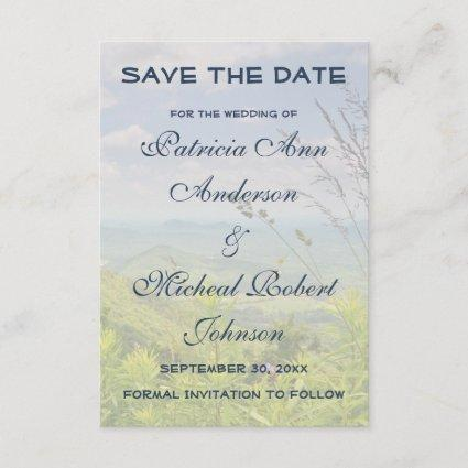 Scenic Mountain Country Save The Date Wedding