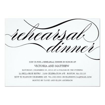 SCRIPT | REHEARSAL DINNER INVITATION