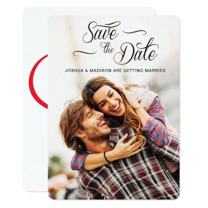 Scripted Save the Date Heart Card