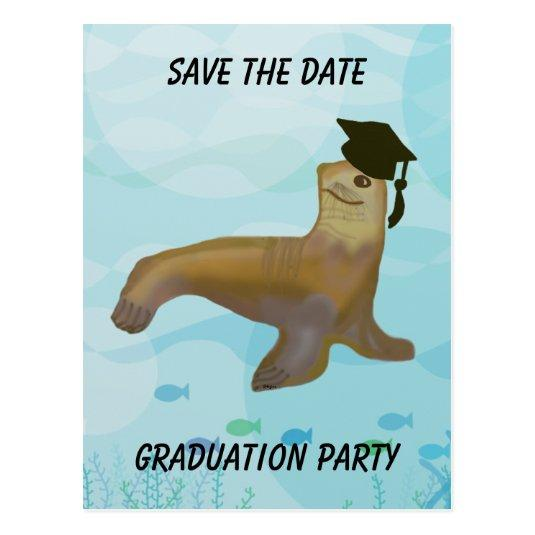 Sea lion graduation invitation cards save the date cards 140 sea lion graduation invitation cards filmwisefo