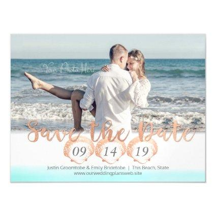 Seashell Beach Magnetic Save the Date Magnetic Invitation
