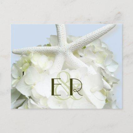Seaside Garden Monogrammed Save the Date Cards