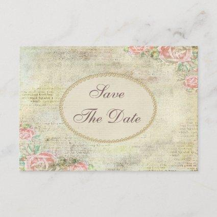 Shabby Chic Roses Baby Shower Save the Date