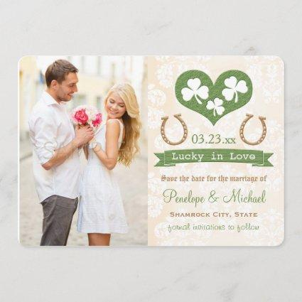 Shamrock Lucky In Love Save the Date