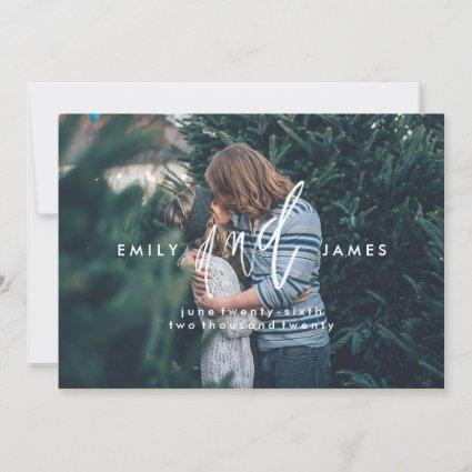 She and Him | Save the Date Photo Cards