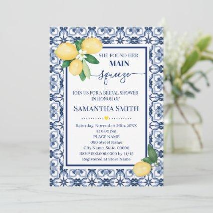 She Found Her Main Squeeze Bridal Shower Invite