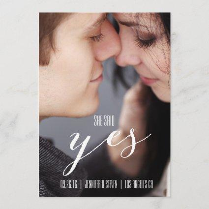 SHE SAID YES | MODERN PHOTO SAVE THE DATE