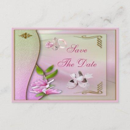 Shoes, Pacifier & Magnolia Save The Date Shower