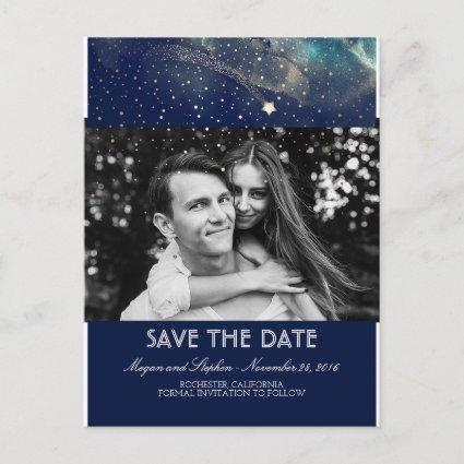 Shooting Star Starry Night Photo Save The Date Announcement