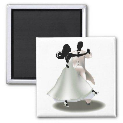 Silhouette of a Dancing Couple Magnets