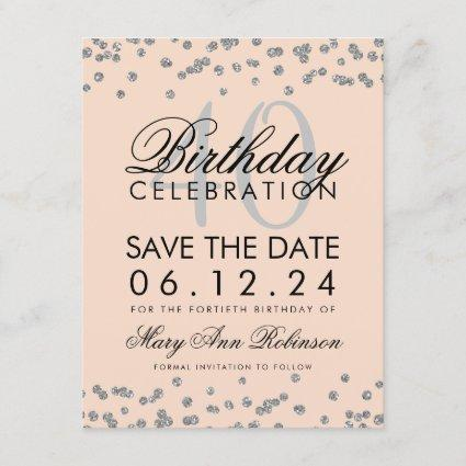 40th Birthday Save The Date Save The Date Cards Save The