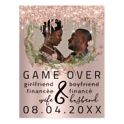 Silver DripsFunny Save The Date Florals Photo