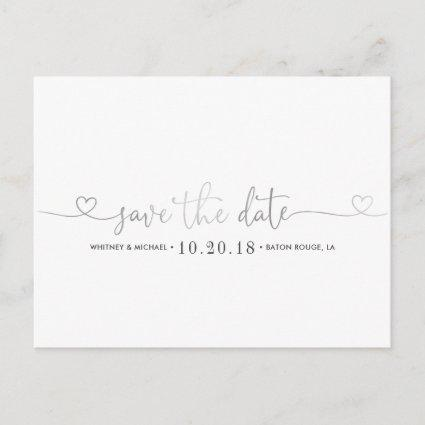 Silver Heart Save the Date Announcement