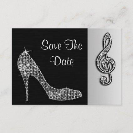 Silver Stiletto & Treble Cleft 19th Save The Date