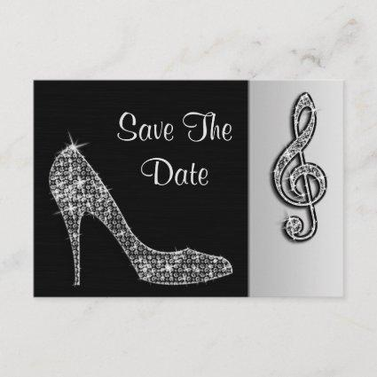 Silver Stiletto & Treble Cleft 45th Save The Date