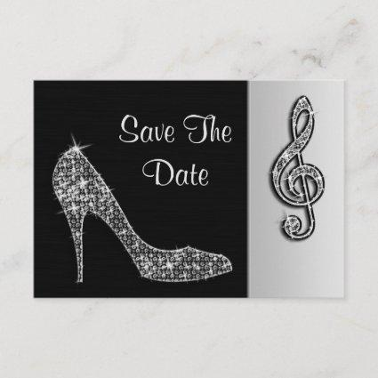 Silver Stiletto & Treble Cleft 50th Save The Date