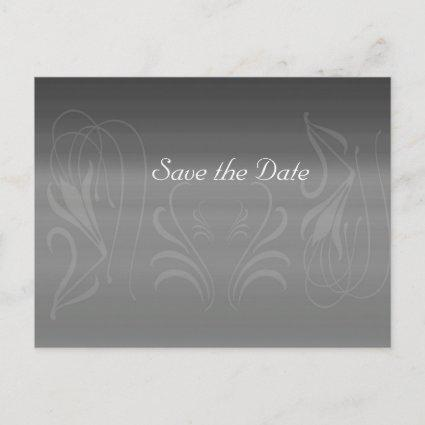 Silver Swirls Anniversary Save the Date Announcements Cards