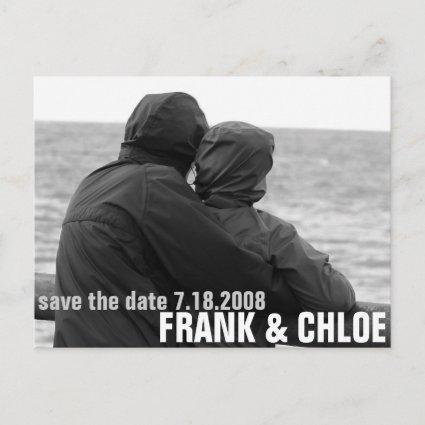 Simple and Cheap Save The Date Annoucement Announcement