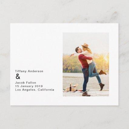 Simple And Modern Save The Date Cards