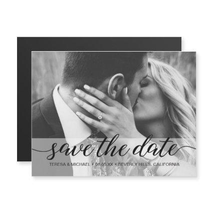 Simple Black and White Photo Save the date Wedding
