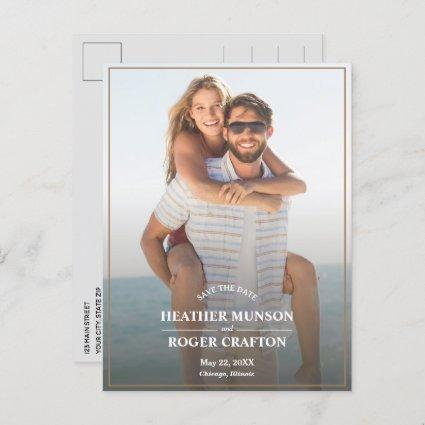 Simple Border Photo Wedding Save the Date Announcement