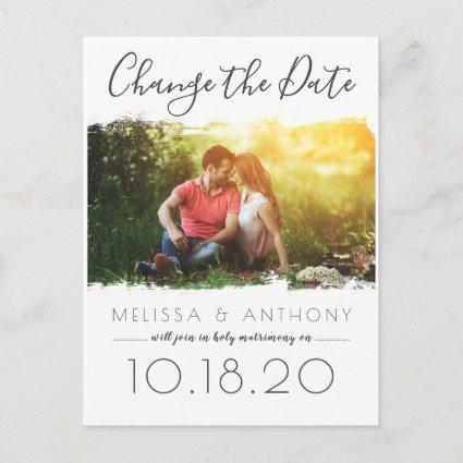 Simple Brush Stroke Effect Change the Date Photo Announcement