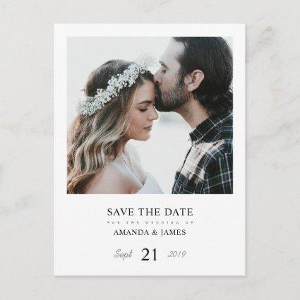 Simple Chic Photo Custom Wedding Save the Date Announcements Cards