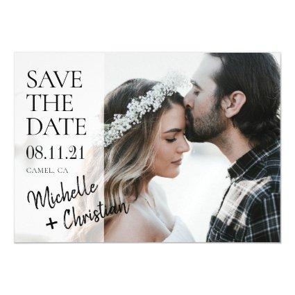 Simple Chic Photo Wedding Save the Date Magnet