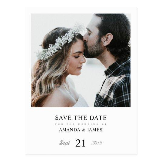 Simple Chic Photo Wedding Save the Date Postard