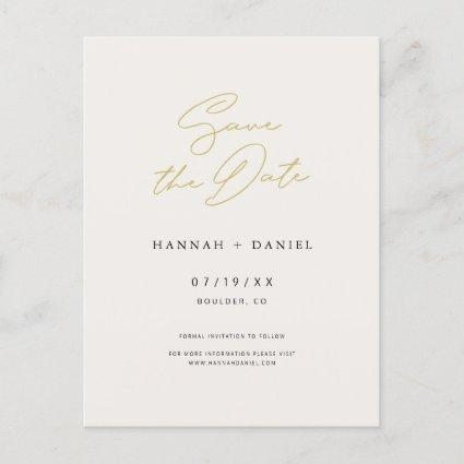Simple Chic Script Wedding Save the Date Invitation