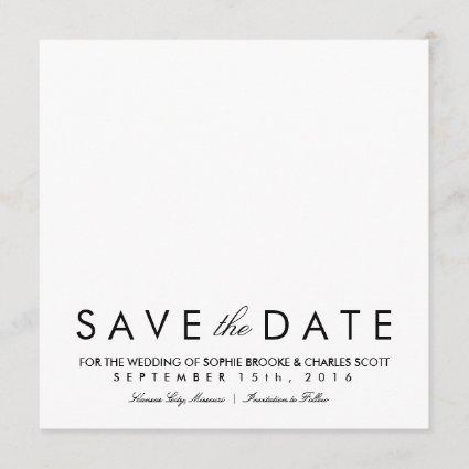 Simple Chic Square Save the Date Card Template