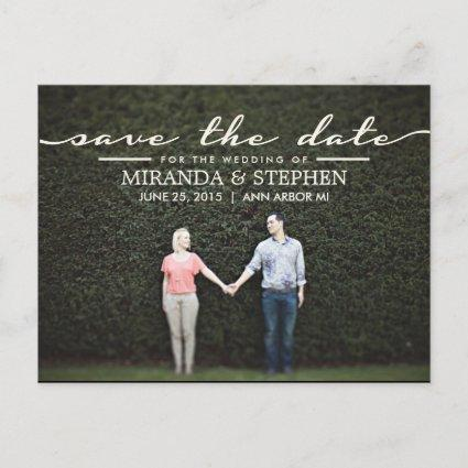 Simple Chic Wedding Save the Date Photo Cards