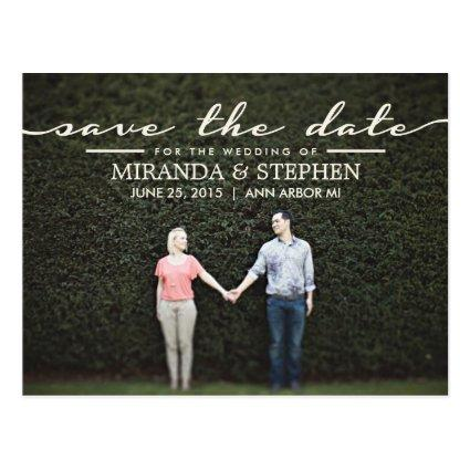 Simple Chic Wedding  Photo Cards