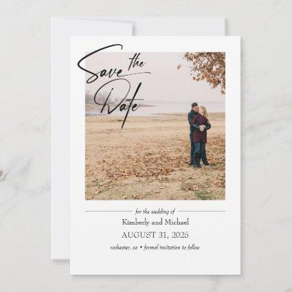Simple Cute Elegant Save the Date Photo