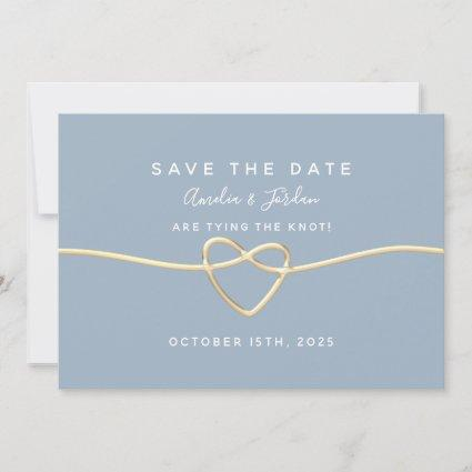 Simple Dusty Blue Wedding Save The Date