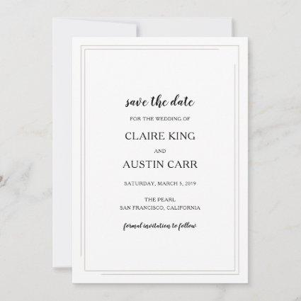 Simple Elegance Wedding Save the Date