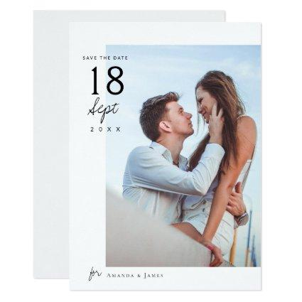 Simple Elegant Chic Photo Wedding Save the Date Invitation