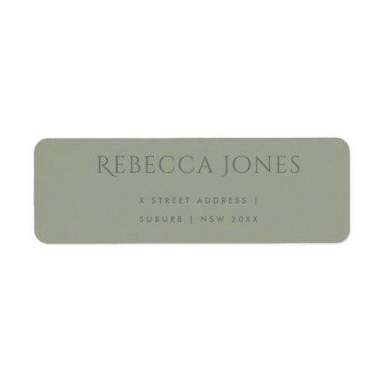 SIMPLE ELEGANT GREY TYPOGRAPHY TEXT ONLY ADDRESS LABEL