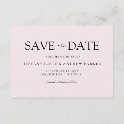 Simple Elegant Modern Peach Wedding Save the date