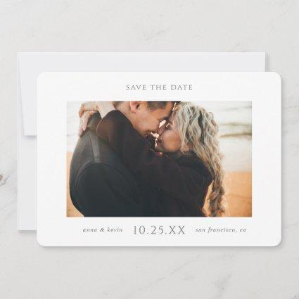 Simple Elegant Modern Photo Save the Date Invite
