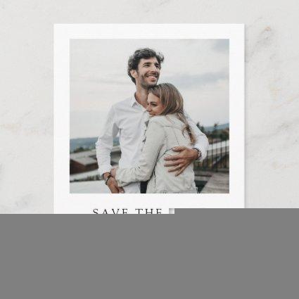 Simple Elegant Modern Photo Wedding Save the Date Invitation