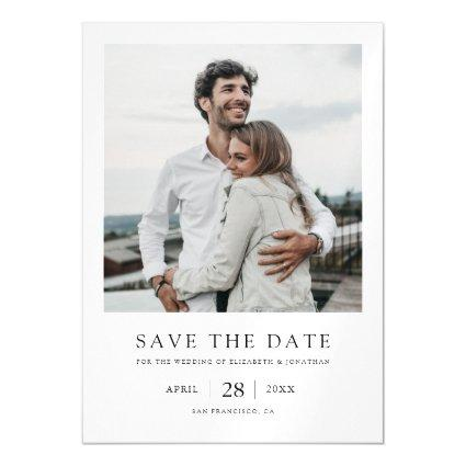 Simple Elegant Modern Photo Wedding Save the Date Magnetic Invitation