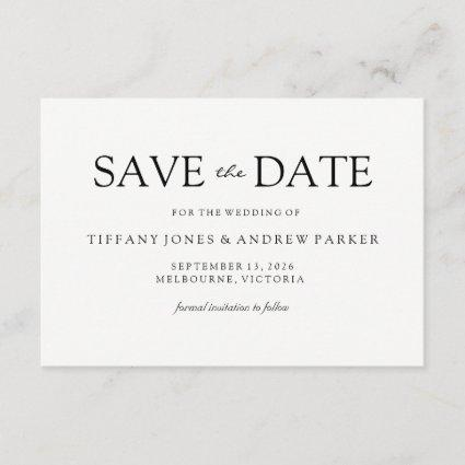 Simple Elegant Modern Script Wedding Save the date