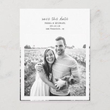 Simple & Elegant Photo Save the Date Announcement
