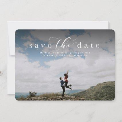Simple elegant save the date photo Cards