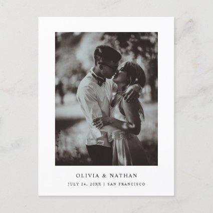 Simple Elegant Text and Photo | Save the Date Announcement