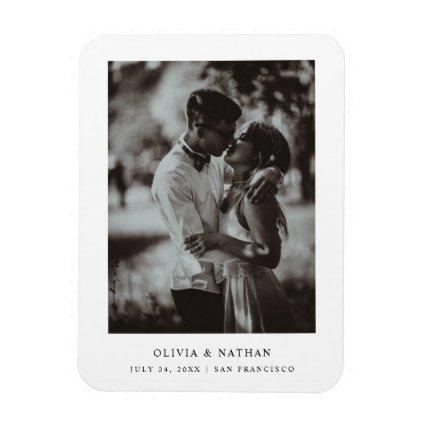 Simple Elegant Text and Photo   Save the Date Magnet
