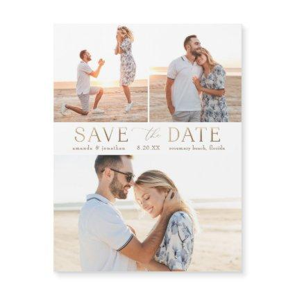 Simple Gold Multiple Photo Save the Date