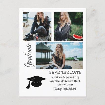 Simple Graduate | Save The Date Grad Hat Photo Announcements Cards